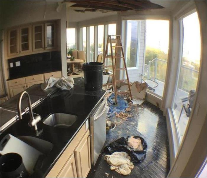 Water Damage Restoration Kitchen - Before & After Before