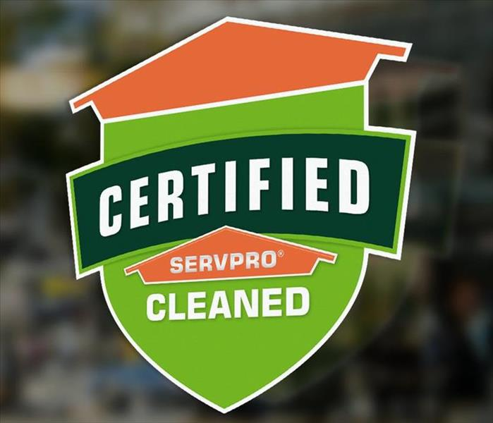 Certified: SERVPRO Cleaned Badge