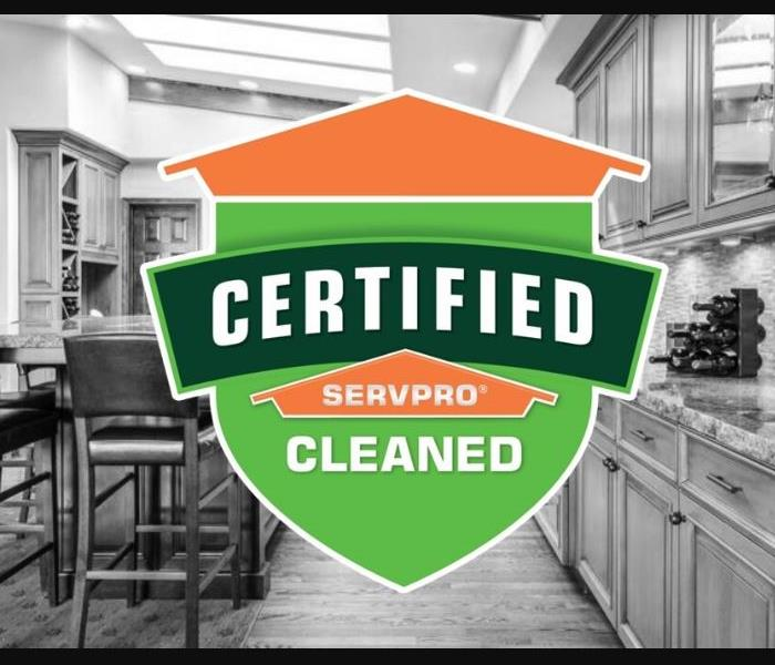 Commercial Cleaning in Restaurants - Image of Certified: SERVPRO Cleaned logo