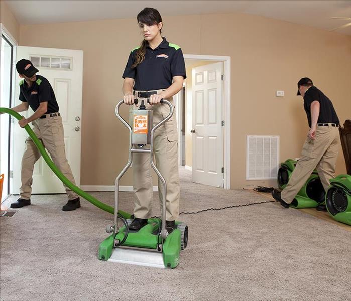 SERVPRO of Martin County team cleaning a house