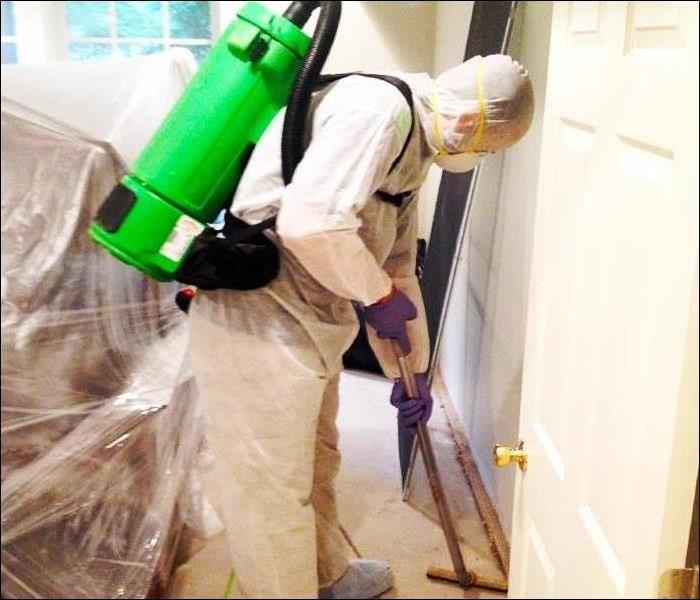 SERVPRO of Martin County staff disinfecting office