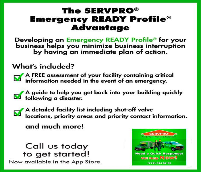 Storm Damage SERVPRO Martin County Emergency Ready Profile